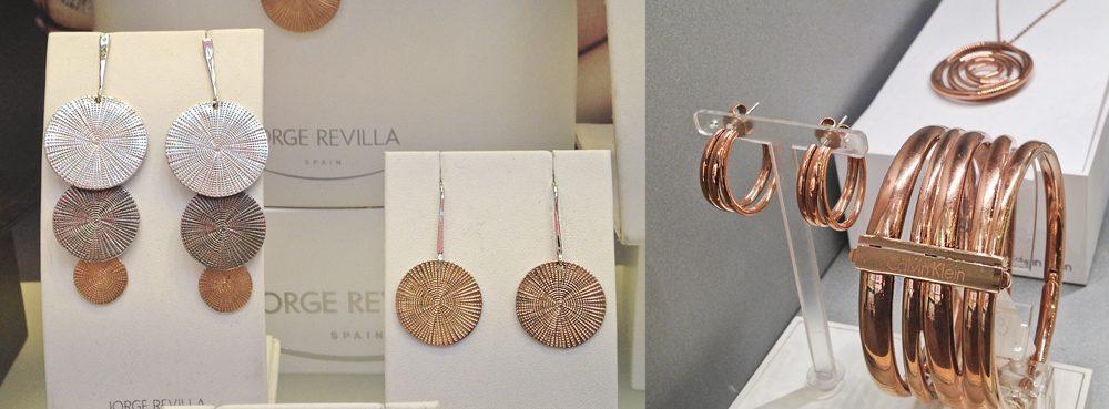 plata bañada oro rosa Jorge Revilla y Calvin Klein