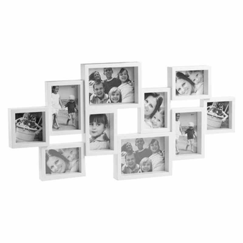 Marco m ltiple pared x10 blanco o2lifestyle - Marco de fotos multiple ...