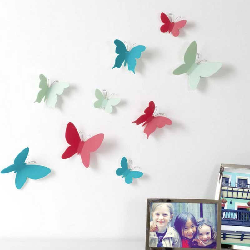 Mariposas decoraci n de pared o2lifestyle - Mariposas decoracion pared ...
