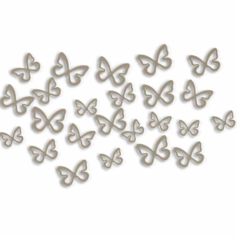 Mariposas Metal Decoraci N De Pared O2lifestyle