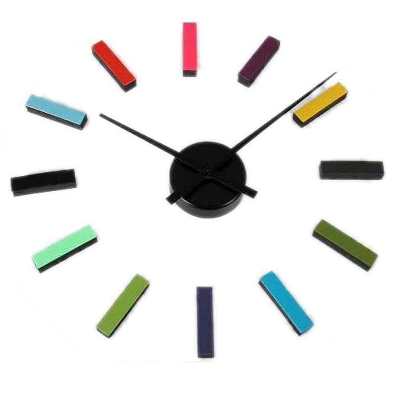Reloj de pared adhesivo multicolor o2lifestyle - Reloj para pared ...