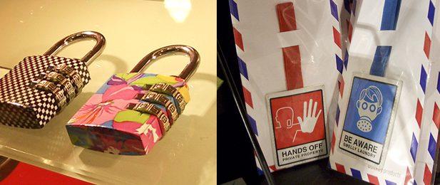 candado etiqueta maleta