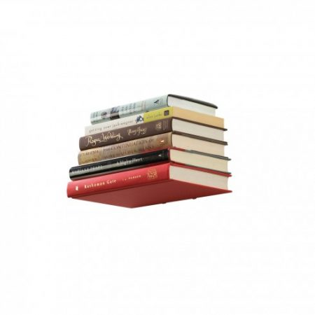 estante libros invisible