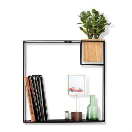 estanteria cubist aluminio y madera