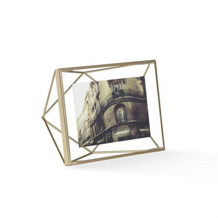 marco prisma metálico bronce mate