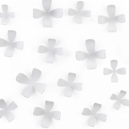walldecor flor blanca
