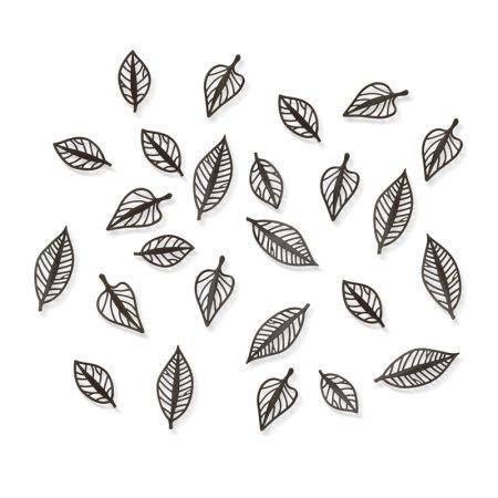 decoracion pared hojas