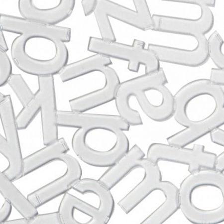 detalle protector fregadero letras