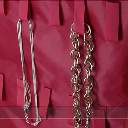 organizador vestido rojo tiras velcro