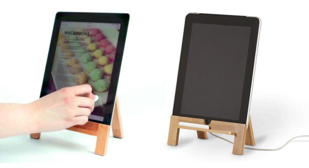 soporte madera ipad