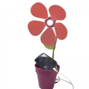lampara pylones cargador usb flor