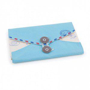 Organizador documentos viaje azul
