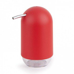 dispensador de jabón touch rojo