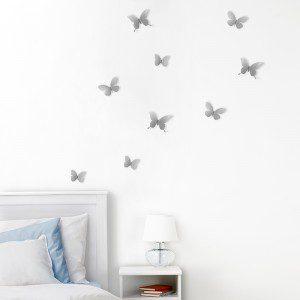 mariposas de pared en nickel