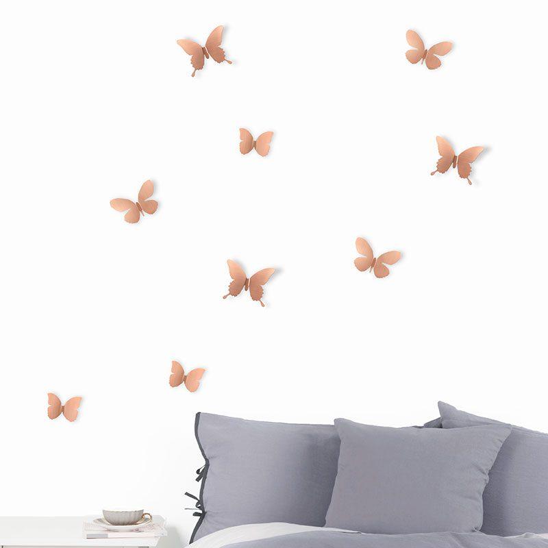 Mariposas de metal para pared o2lifestyle - Mariposas para pared ...