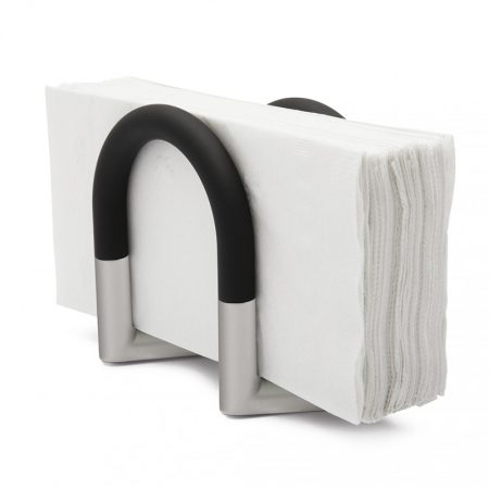 Servilletero Squeeze Negro/Cromo