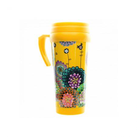 vaso termo original Pylones Dahlia amarilla