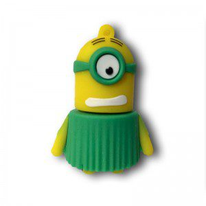 usb-8gb-minion-vestidoverde