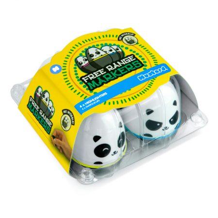 Marcadores Fluorescentes Huevo Panda
