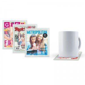 Posavasos personalizables diseño revista