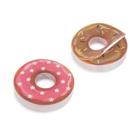 Notas adhesivas en forma de donuts