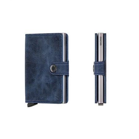 cartera secrid azul vintage