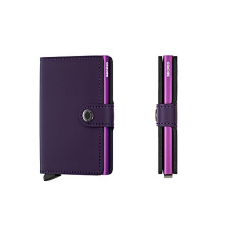 cartera secrid anticopia matte purple