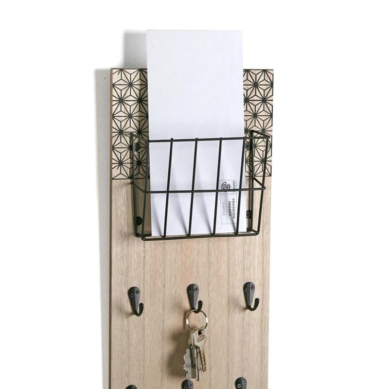 detalle colgador llaves con cesto