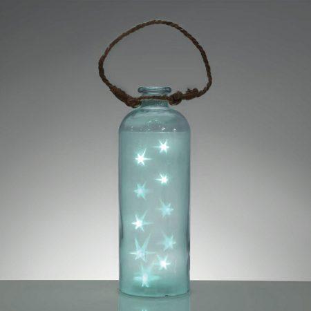 lampara azul pálido original botella