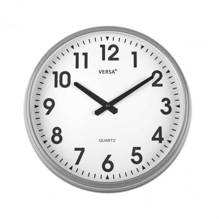 reloj pared retro gris