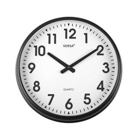 reloj pared retro negro