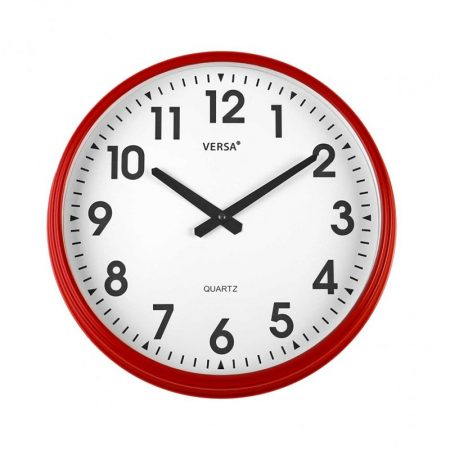 reloj pared retro rojo