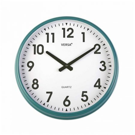 reloj pared retro verde turquesa