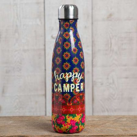 botella termo original estampada happy camper