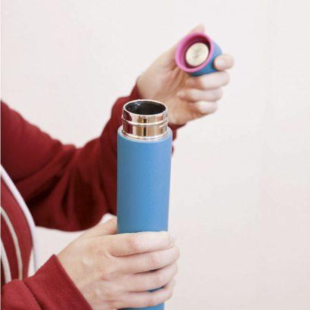 slim bottle azul extrafino detalle tapón