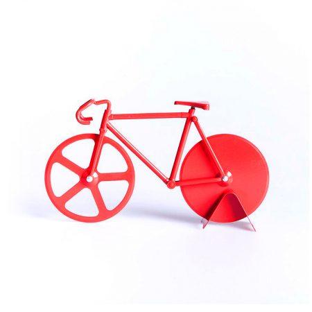 cortador pizzas fixie bici rojo