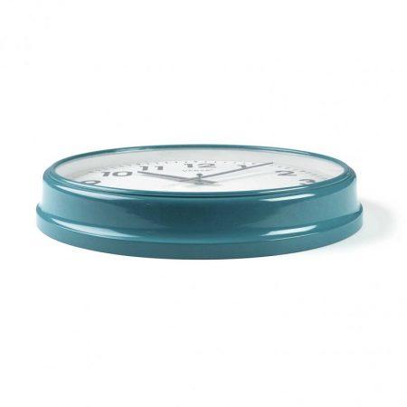 detalle lateral reloj cocina retro azul