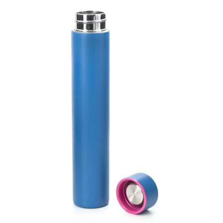 termo slim bottle azul