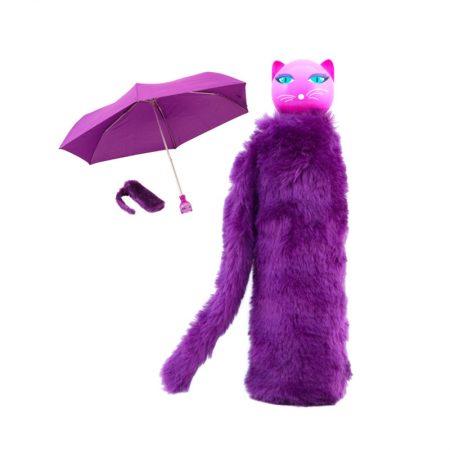 Paraguas gato Morado Pylones