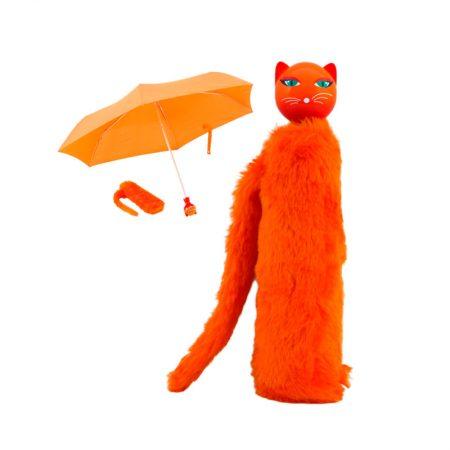 Paraguas gato Naranja Pylones