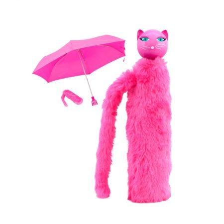 Paraguas gato Rosa Pylones