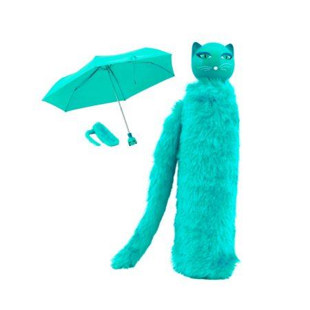 Paraguas gato Turquesa Pylones