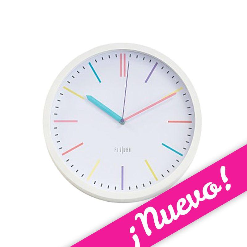 Reloj de pared multicolor o2lifestyle - Reloj pared original ...