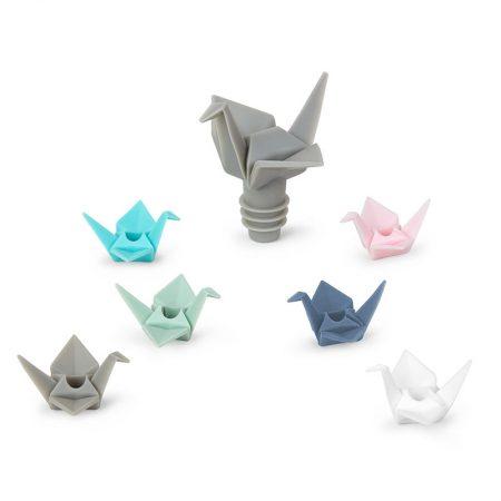 Marcacopas y tapon Origami