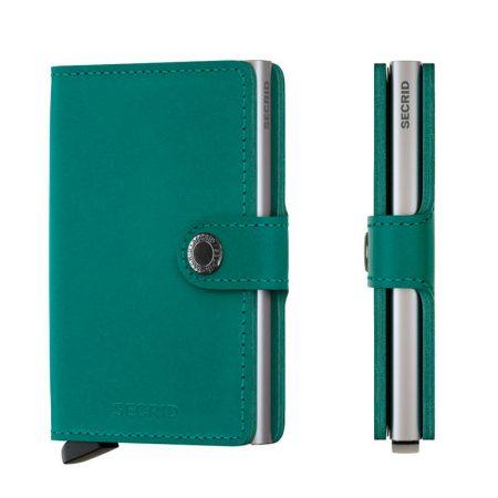 Cartera automatica anticopia color Verde Esmeralda