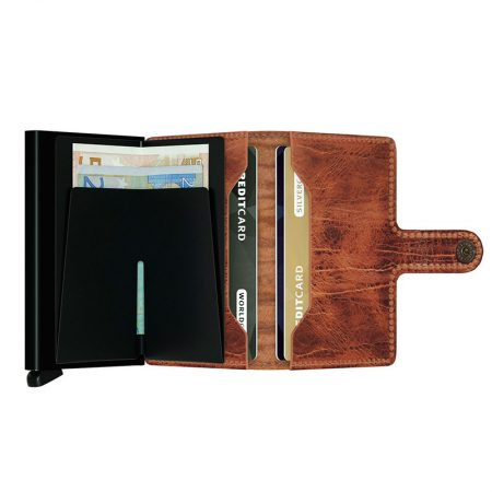 Cartera automatica anticopia color Whiskey interior