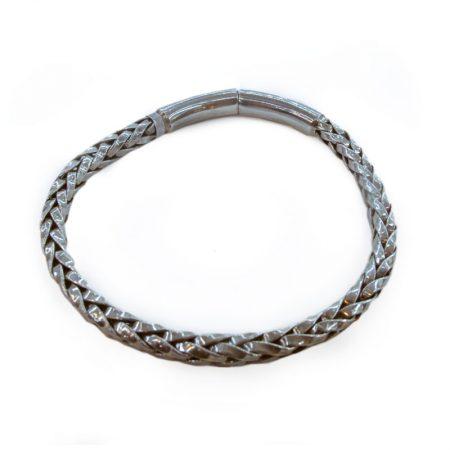 pulsera de cordón con forma de trenza