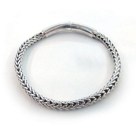 pulsera de plata de cordón trenzado pequeño