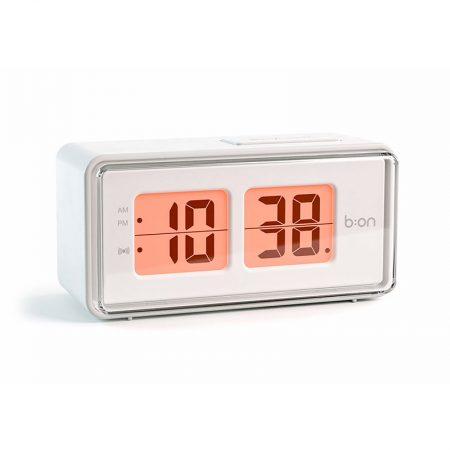 Reloj Despertador Flip LCD blanco