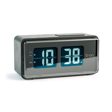 Reloj Despertador Flip LCD negro